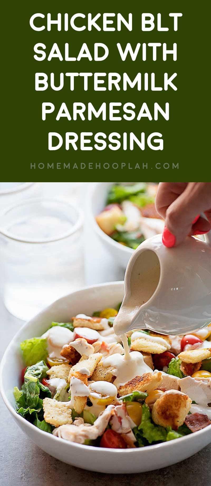 Chicken BLT Salad with Buttermilk-Parmesan Dressing ...