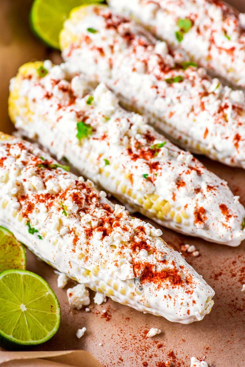 How to make baked Mexican street corn.