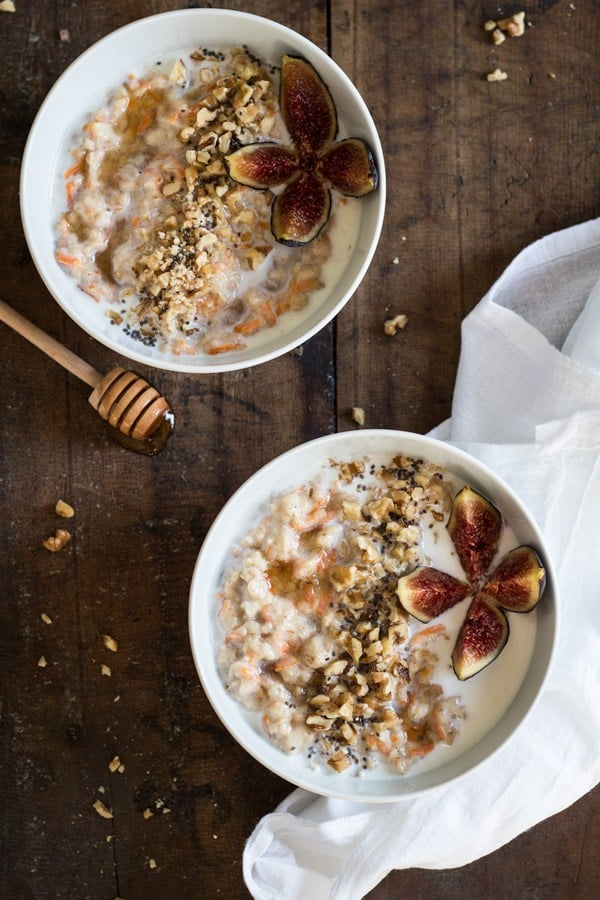 Carrot Cake Oatmeal with Figs