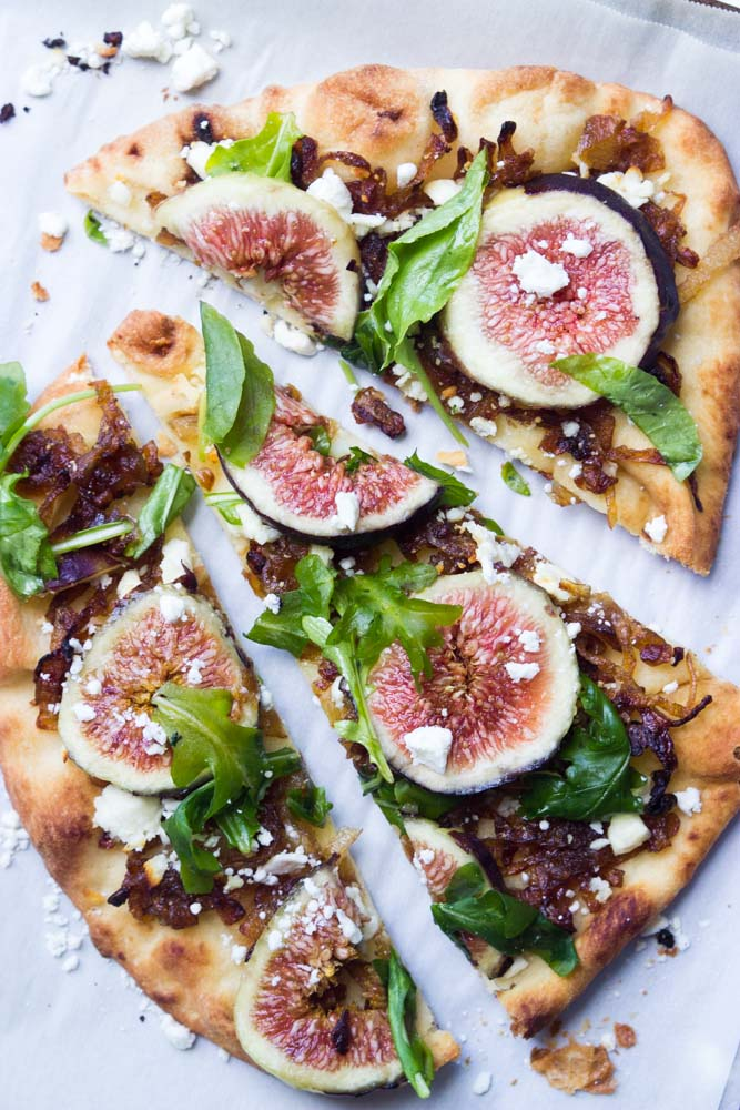 Fig and Carmelized Onion Flatbread