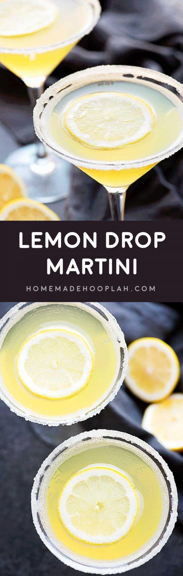 Lemon drop martini homemade hooplah for How to make flavored martinis