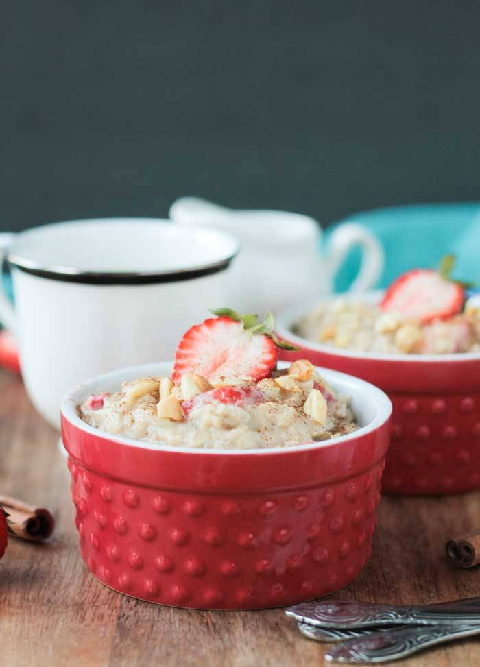 Strawberry Peanut Butter Oatmeal