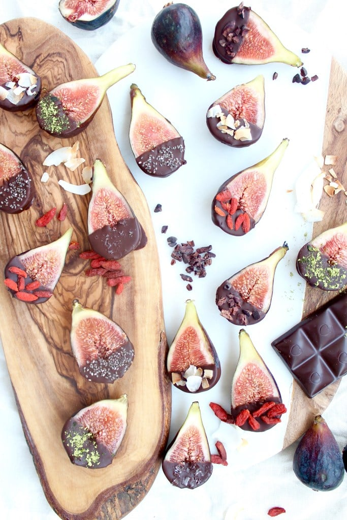 Dark Chocolate Covered Figs