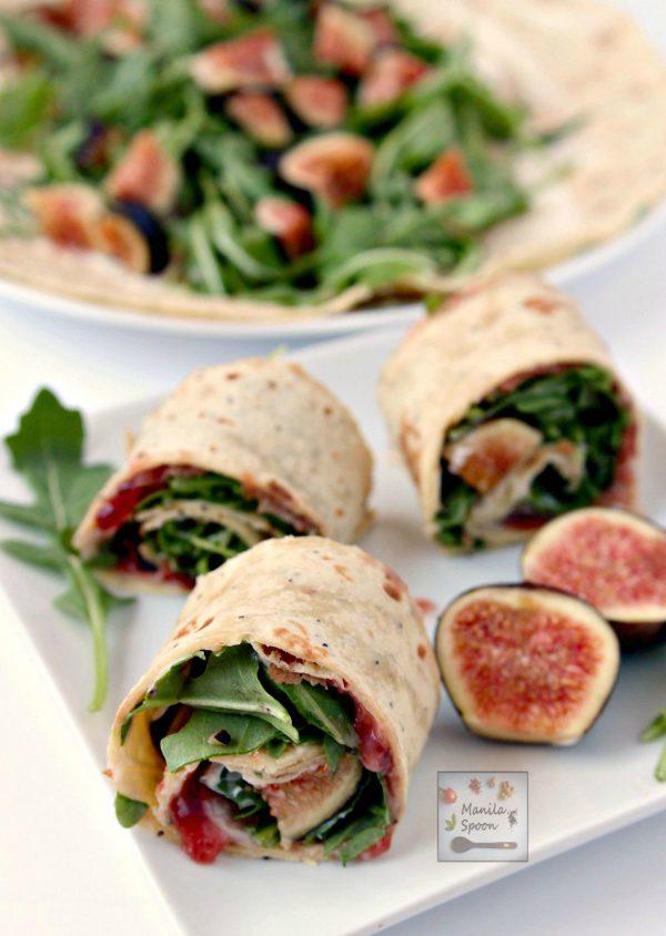Fig, Prosciutto, and Arugula Sandwich Wrap