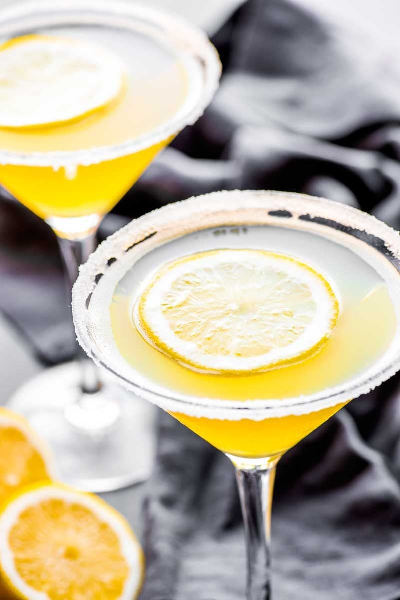 Lemon drop martini with simple syrup.