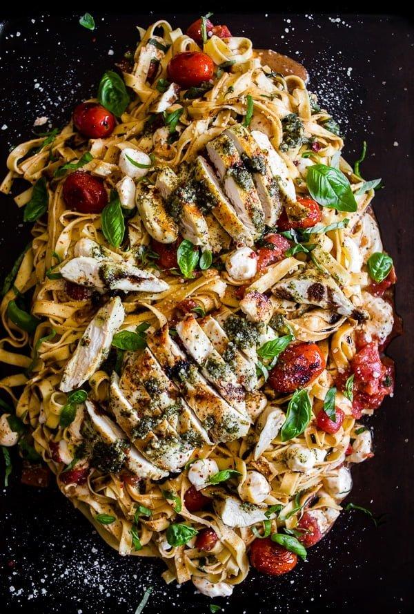 Pesto Chicken Caprese Pasta