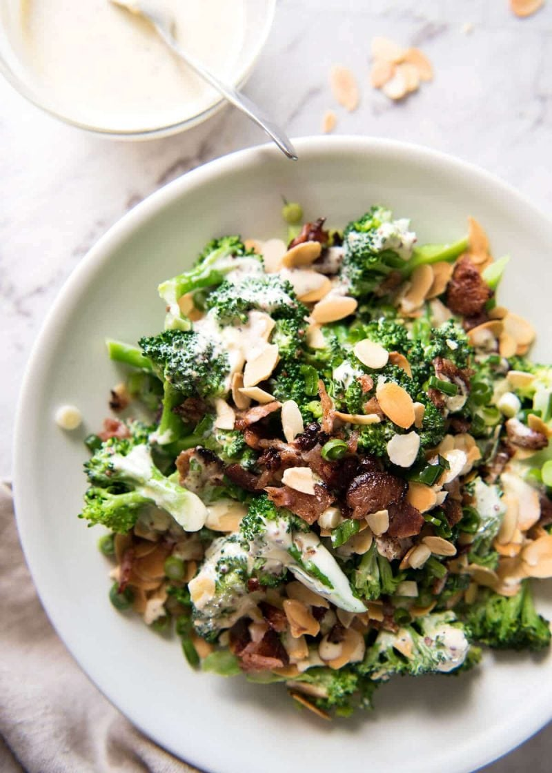 Broccoli Salad with Sour Cream Dressing