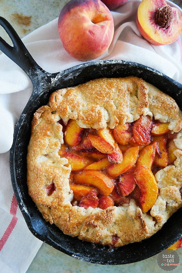 Cast Iron Peach Crostata
