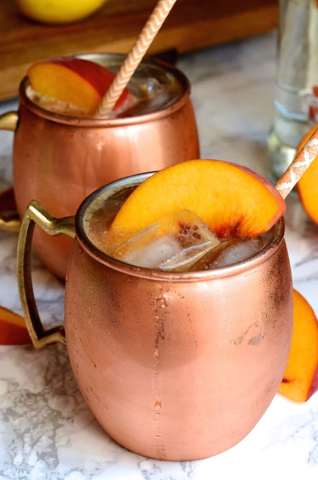 Ginger Peach Moscow Mule