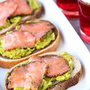 Smoked Salmon on Rye with Passion Tea