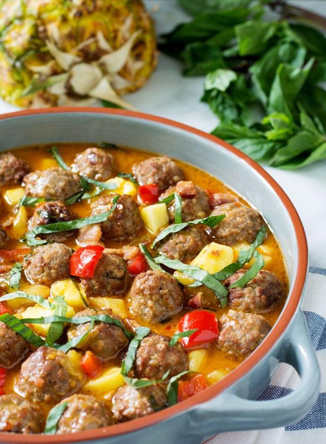 Thia Coconut Curry Meatballs