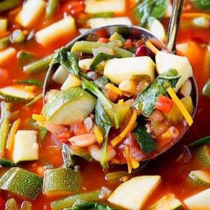 Crock Pot Minestrone Soup