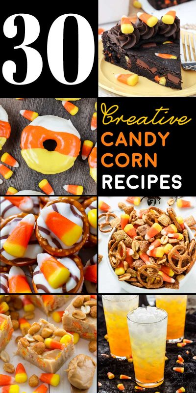 30 Creative Candy Corn Recipes! If you love candy corn, then this list is for you! From candy corn included to candy corn inspired, this list has everything you need to get your candy fix! | HomemadeHooplah.com