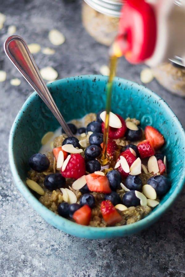 Berry Almond Breakfast Quinoa