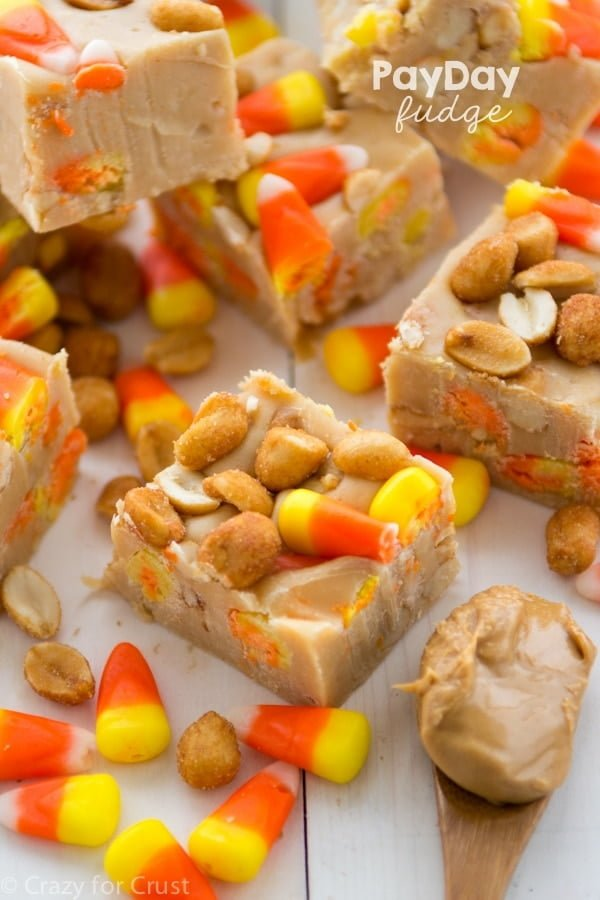 Candy Corn Payday Fudge