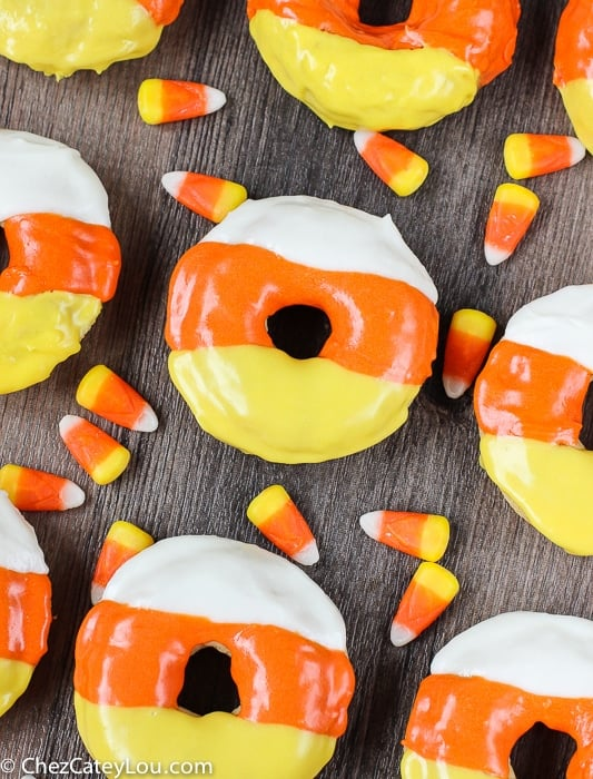 Candy Corn Donuts