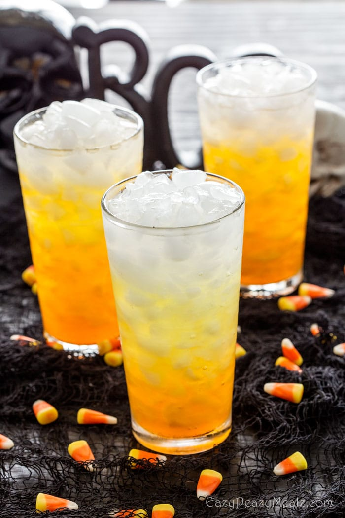 Layered Candy Corn Punch