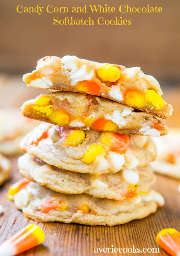 Candy Corn and White Chocolate Softbatch Cookies