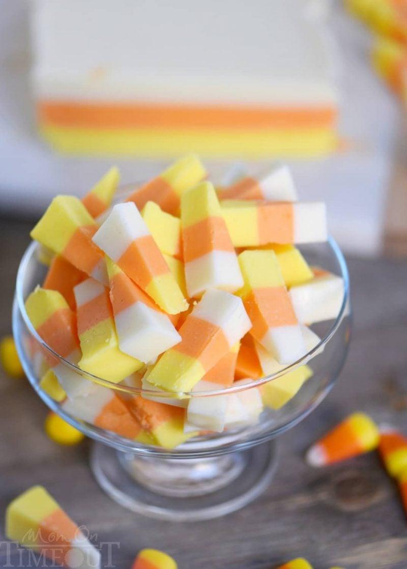 Easy Candy Corn Fudge