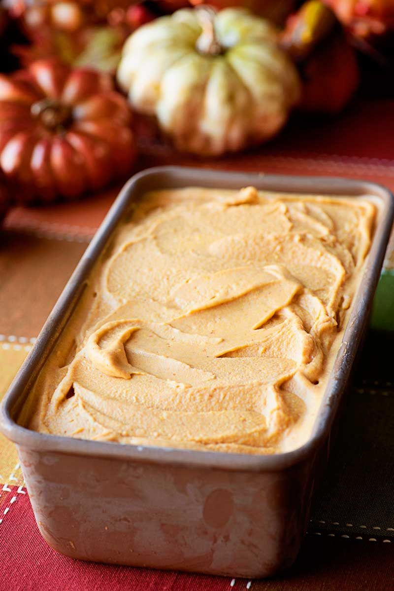 """Pumpkin Coffee Ice Cream! Creamy and decadent pumpkin pie spice ice cream with a splash of pumpkin coffee. It's the perfect """"anytime, anywhere"""" treat for fall! #PumpkinDelight #IDelight #ad 