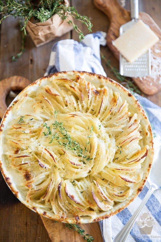 Hasselback Scalloped Potatoes