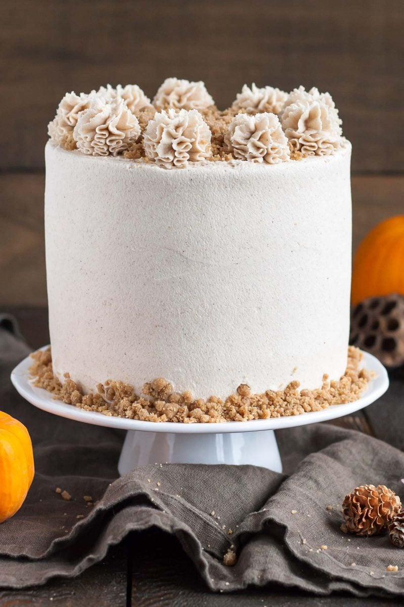 Maple Streusel Pumpkin Cake