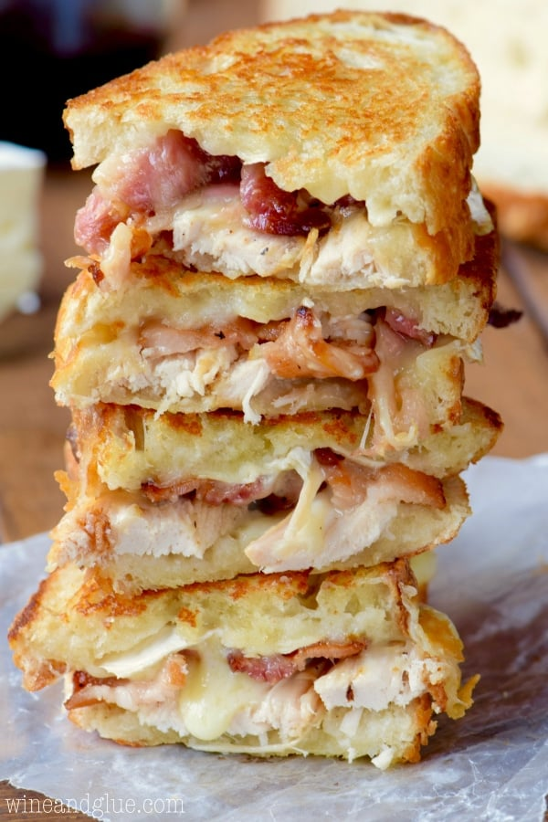 Turkey Bacon Brie Grilled Cheese Sandwich
