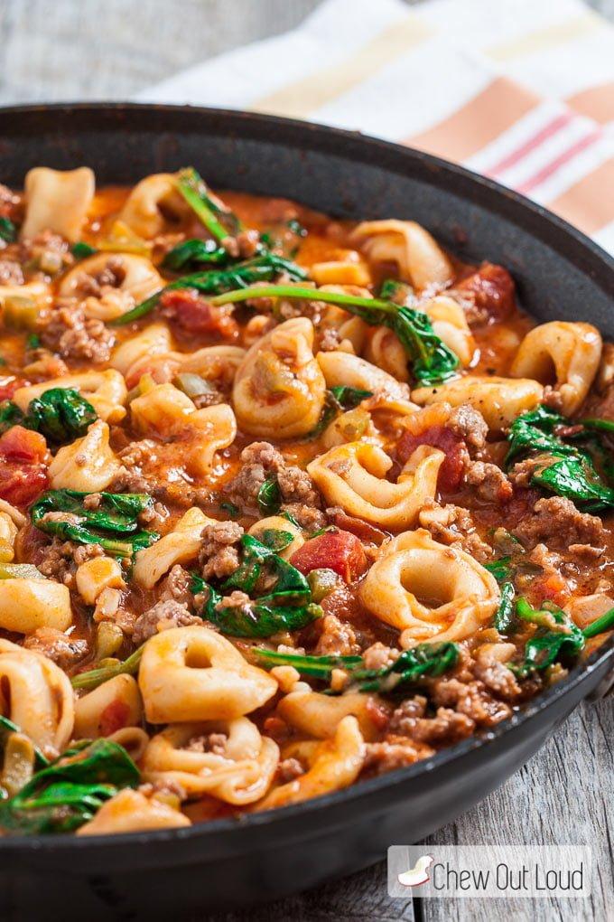 20 Minute Skillet Tuscan Tortellini