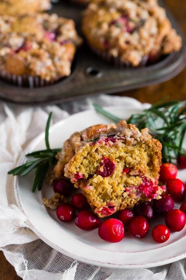Cranberry Orange Rosemary Muffins