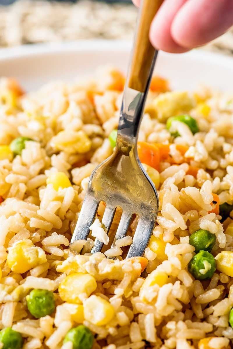 This Chinese egg fried rice is the best side dish for Chinese cuisine.