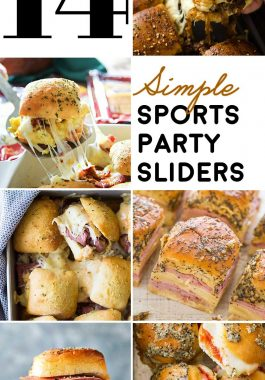 14 Simple Sports Party Sliders! If you're looking for a one-pan way to please the crowd at your next sports party, this list of simple slider recipes is a total win! | HomemadeHooplah.com