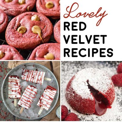 28 Lovely Red Velvet Recipes! Need a Valentine's Day gift for your favorite foodie? This list of beautiful red velvet recipes will give you plenty of ways to show them how you feel! | HomemadeHooplah.com