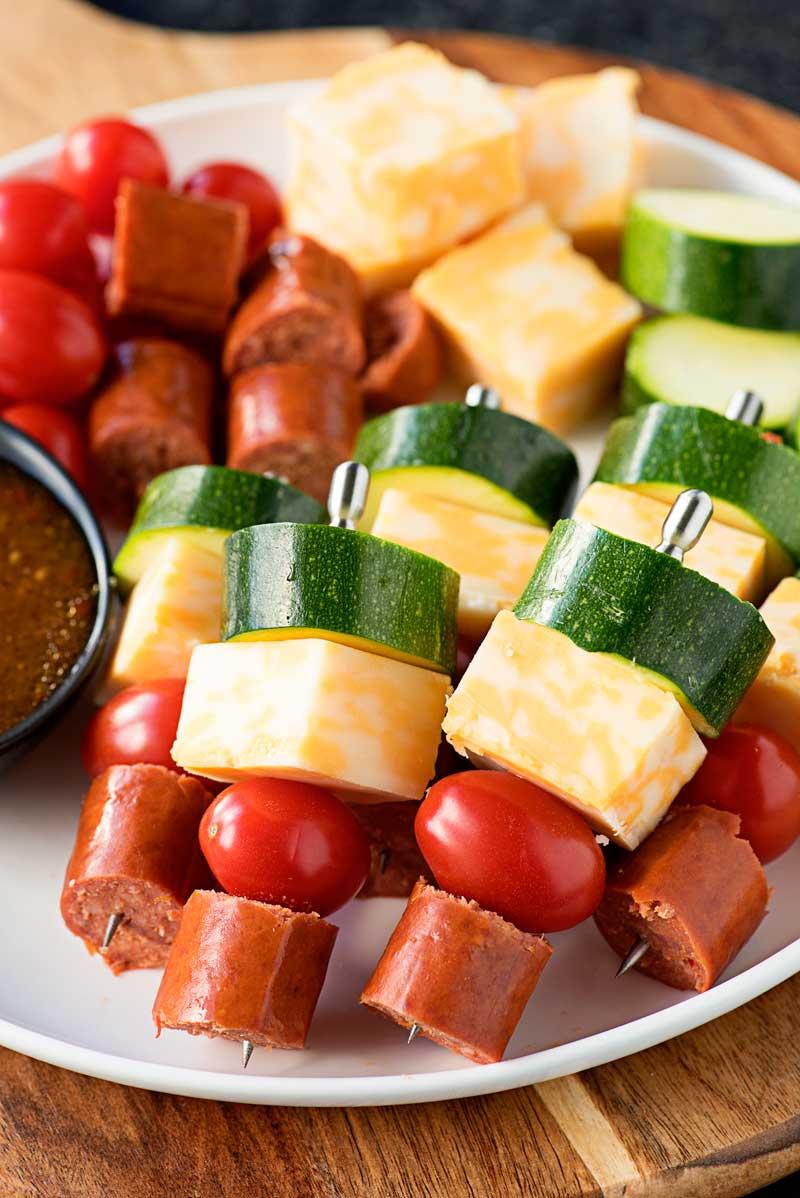 Easy Sausage Skewers Homemade Hooplah