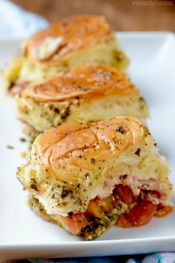 Italian Pesto Sliders