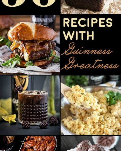 30 Recipes with Guinness Greatness! If you love a good dry stout then this list of Guinness recipes is for you! 30 delicious dinners and decadent desserts that pack bold Irish flavor! | HomemadeHooplah.com