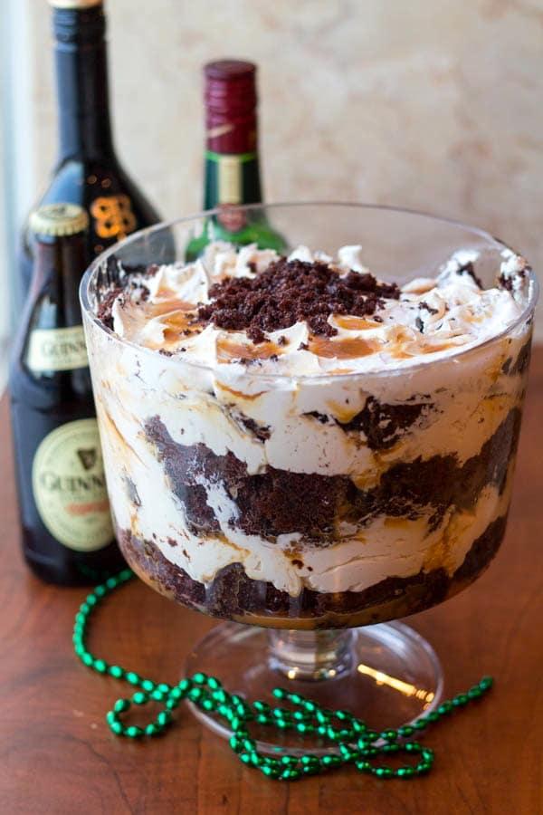 Boozy Triple Irish Trifle