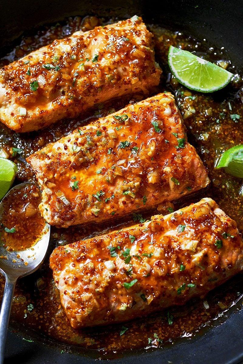 Spicy Honey Garlic Salmon