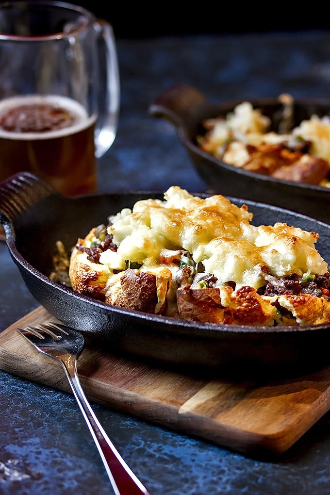 Stuffed Yorkshire Pudding with Guinness Shepherd's Pie