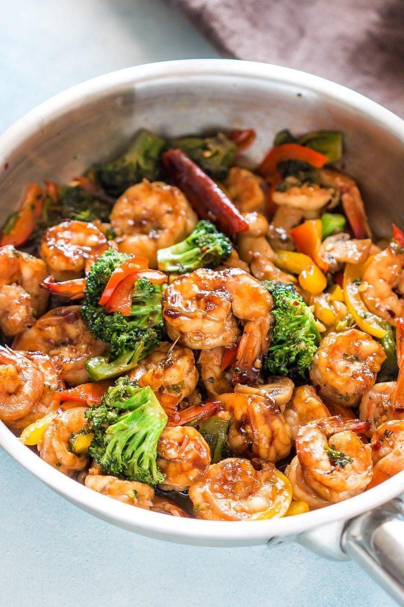 Teriyaki Shrimp Broccoli Stir Fry