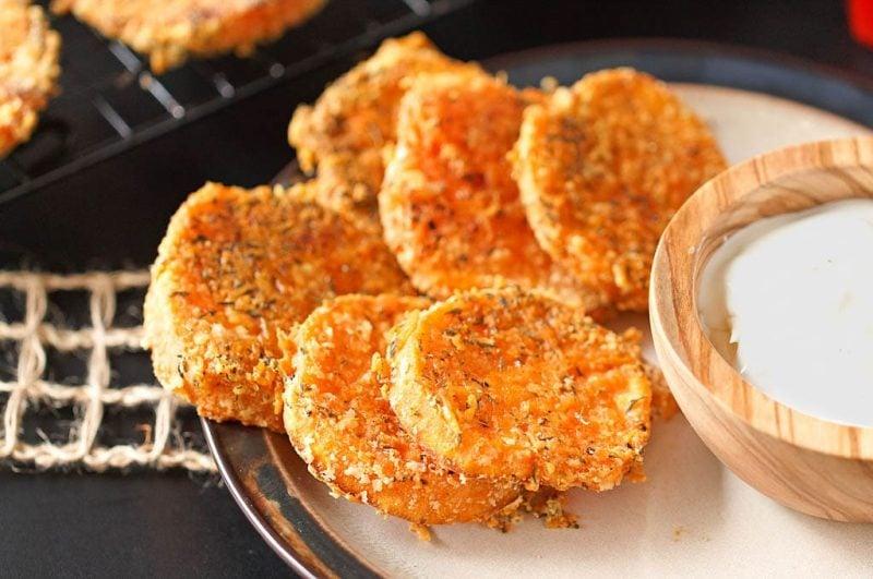 Thyme Parmesan Roasted Sweet Potatoes