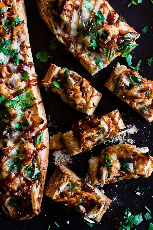 Smoked Mozzarella BBQ Chicken French Bread Pizza