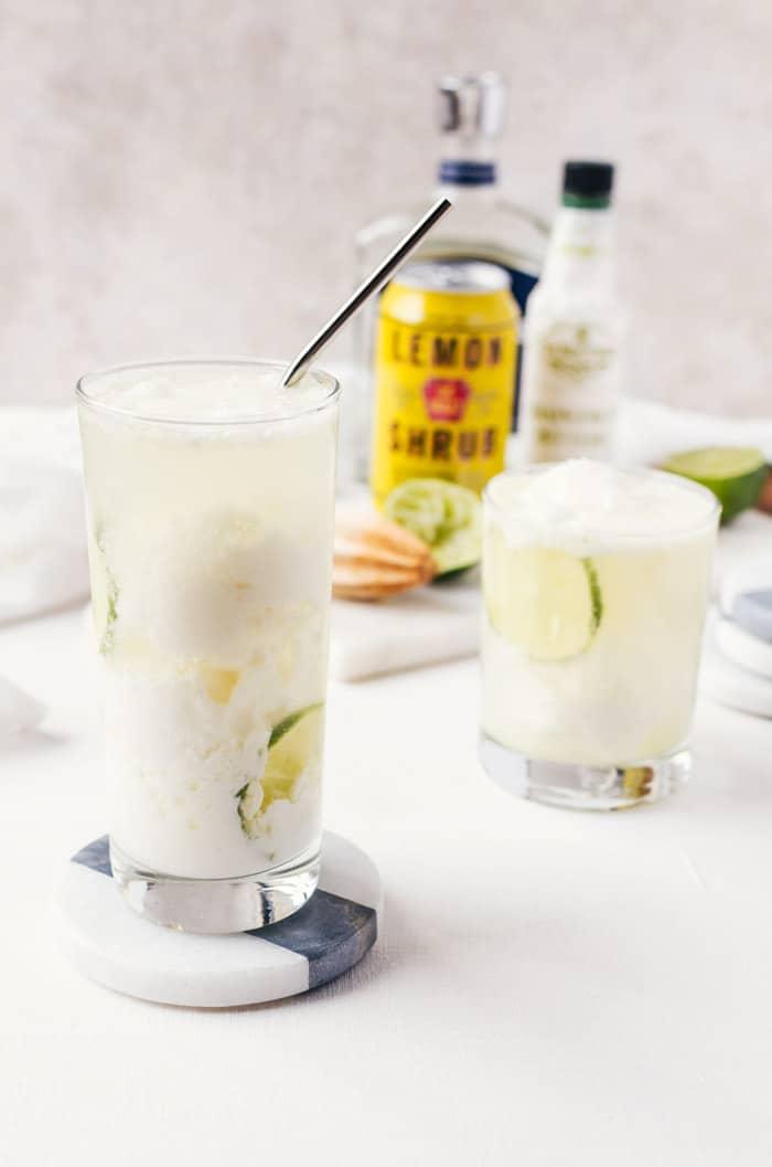 Coconut Lemon Float
