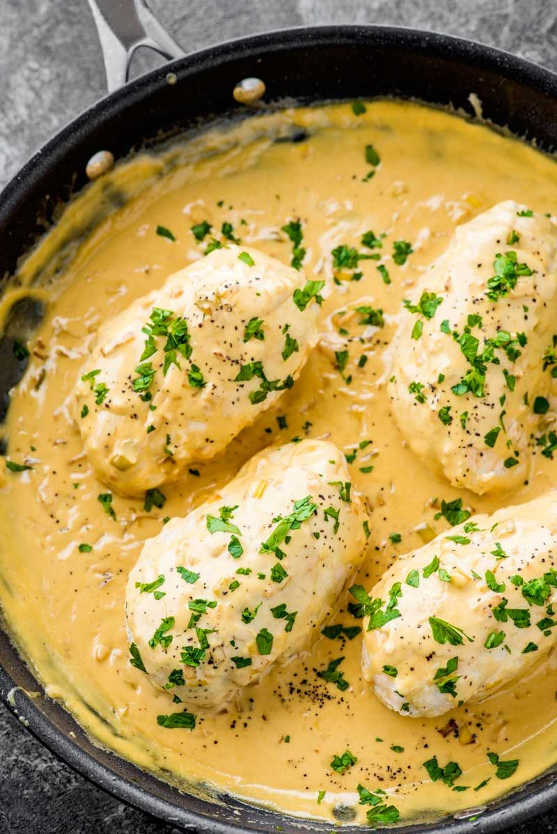 A complete list of what's in creamy dijon chicken