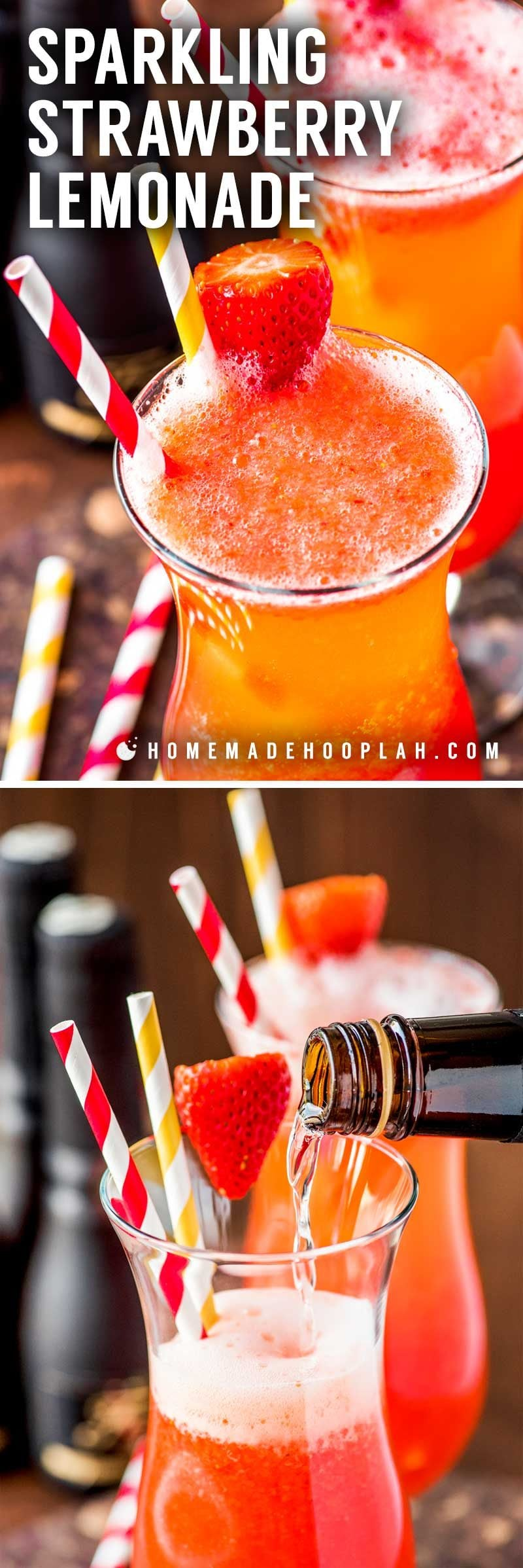 The best homemade strawberry lemonade recipe.