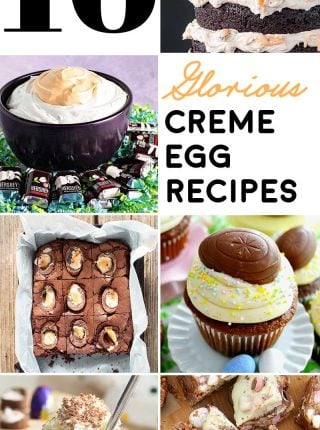 16 Glorious Creme Egg Recipes! The best candy egg around gets 16 makeovers in this glorious list of creative creme egg recipes. Cadbury chocolate never had it so good! | HomemadeHooplah.com