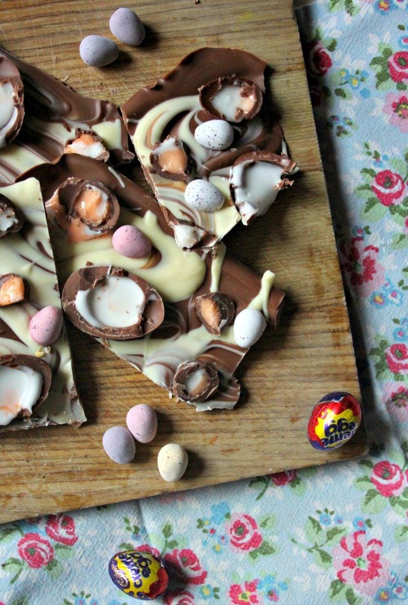 Cadbury Creme Egg & Mini Egg Chocolate Slab