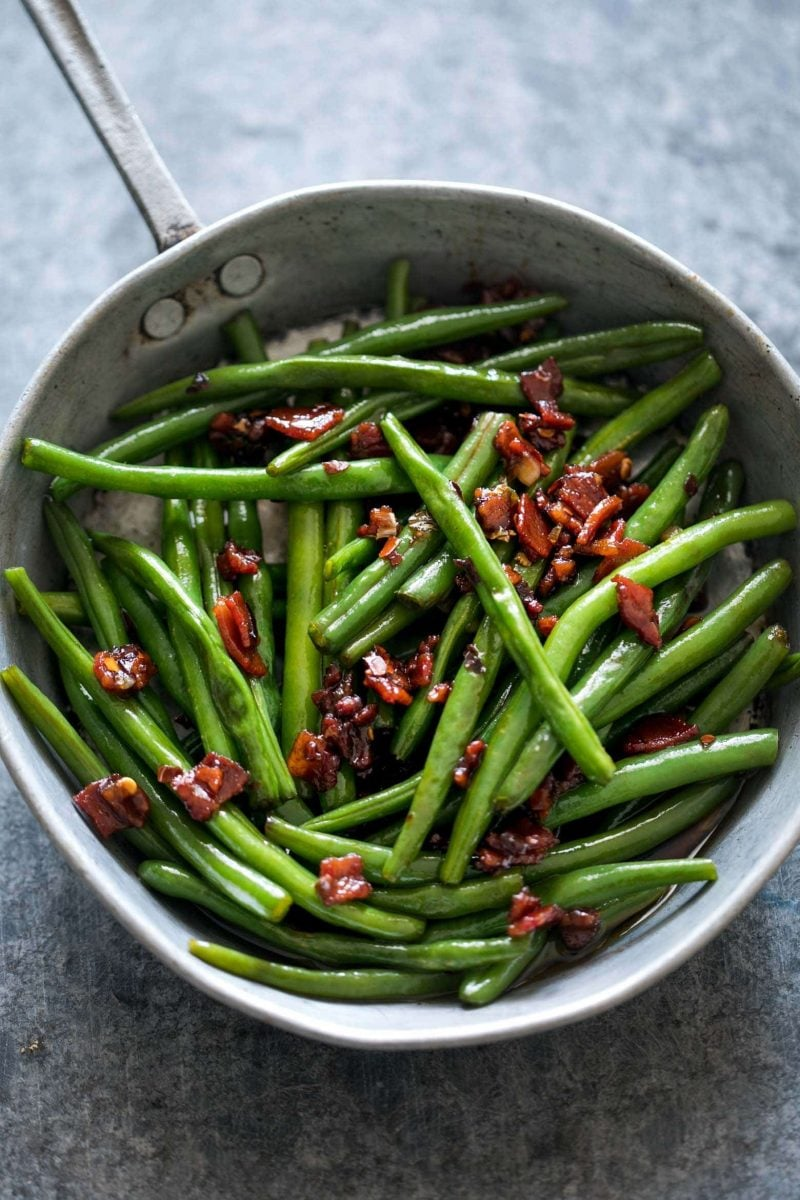 Sauteed Brown Sugar Bacon Garlic Green Beans