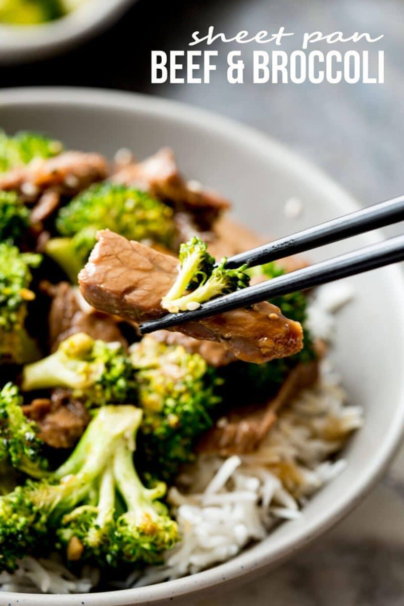 Sheet Pan Beef and Broccoli