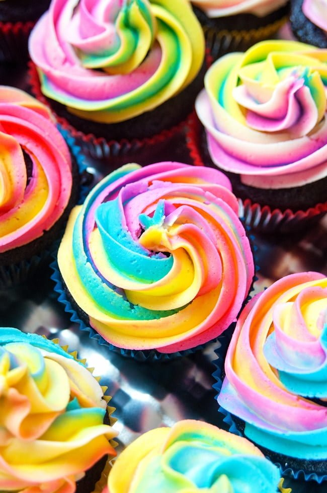 Rainbow Swirl Buttercream Frosting