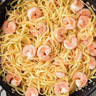 Shrimp Scampi with Linguine Step 4 - Toss all ingredients together.